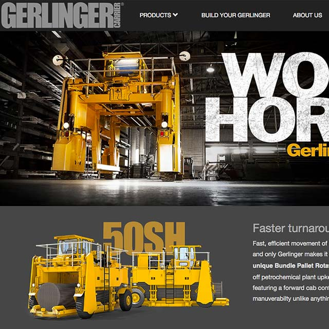 Website design. Cuffe Sohn Design Salem Oregon. Website, SEO for Gerlinger Carriers.